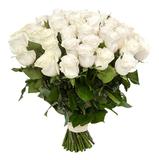Белые розы/ 70 - 80 см