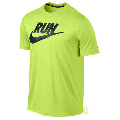 Футболка Nike Legend Run Swoosh Tee салатовая