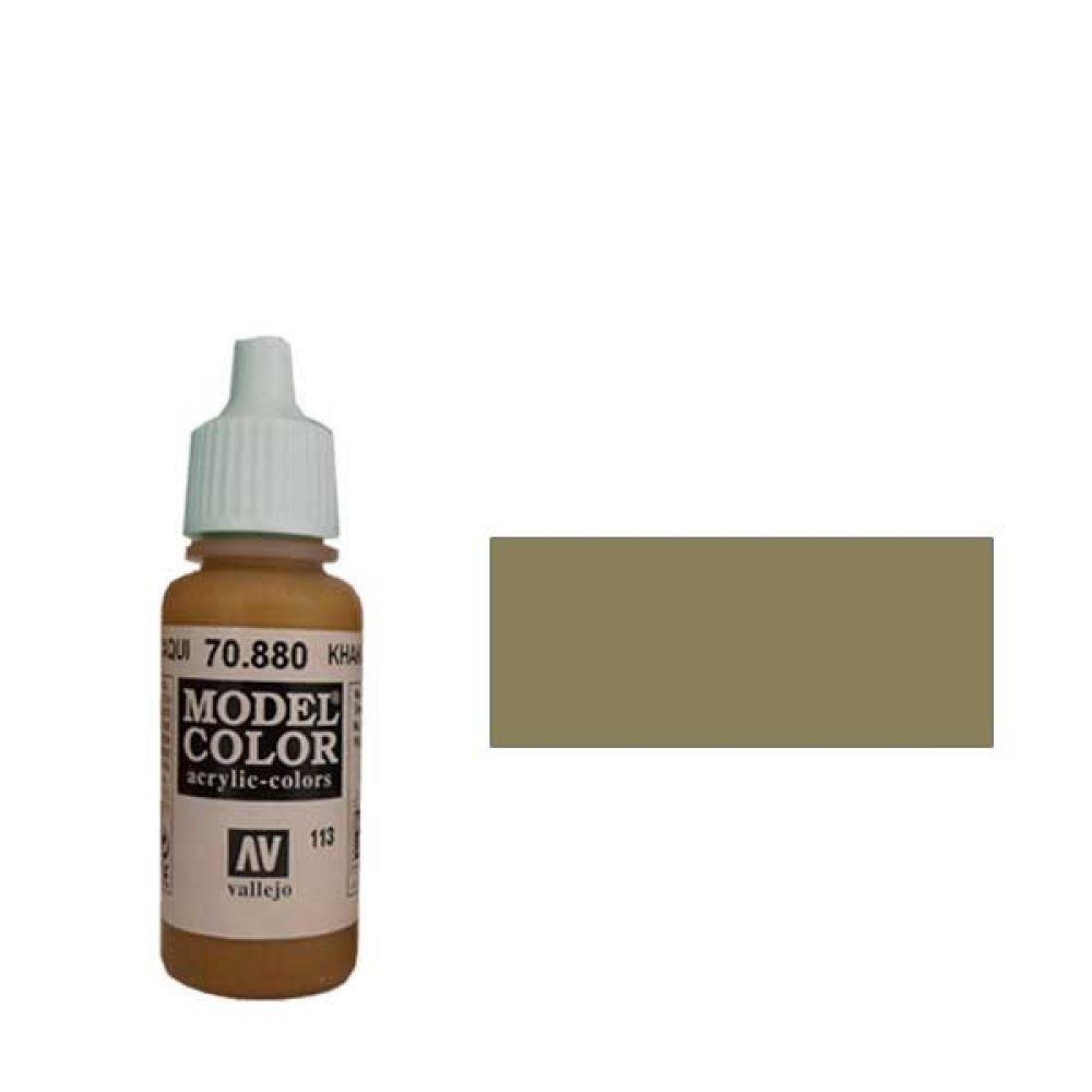 113. Краска Model Color Серый Хаки 880 (Khaki Grey) укрывистый, 17мл
