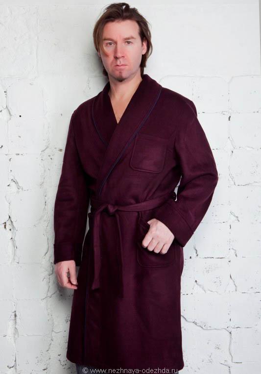 Мужской домашний халат B&B (Мужские халаты)