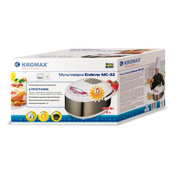 Мультиварка Kromax Endever MC-32 упаковка