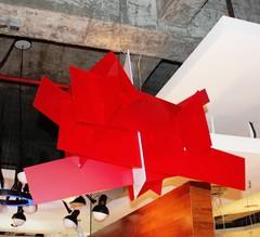люстра Foscarini  Big Bang красная ( 65 см )