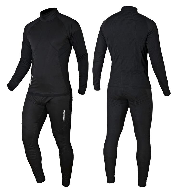 Ветрозащитный комплект термобелья Noname Arctos Underwear Windstopper Black 15 (2000752-2000753) фото