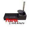 Мангал с печью для  казана 108 см