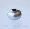 Бусина Сваровски BeCharmed Pearl Crystal Light Grey 14х10 мм ()