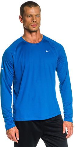Футболка Nike Miler LS UV /Рубашка беговая голубая