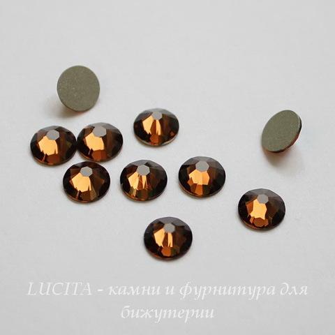 2028/2058 Стразы Сваровски холодной фиксации Smoked Topaz ss12 (3,0-3,2 мм), 10 штук