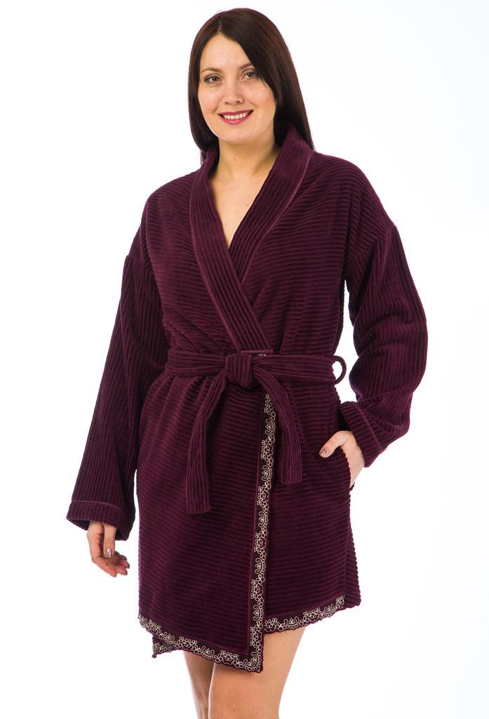 Короткий махровый халат Joelle (Женские халаты)