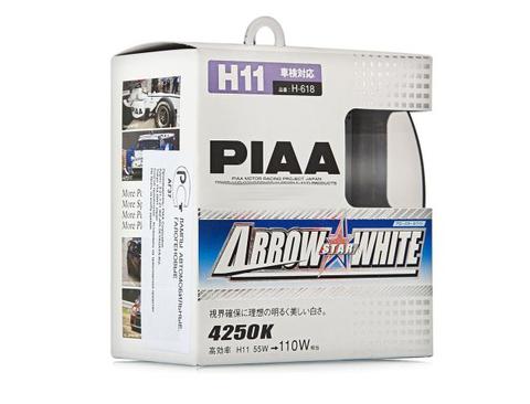 Галогенные лампы PIAA H11 H-618 (4250K) Arrow Star White