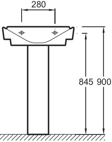 Jacob Delafon REVE Подвесная раковина (E4802)