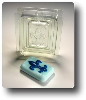 Флер де лис форма для мыла 3D (сторона A)