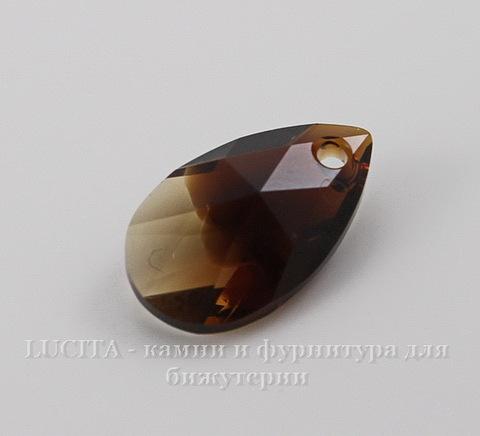 6106 Подвеска Сваровски Капля Topaz Blend (16 мм)