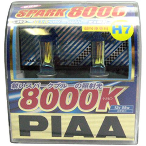 Галогенные лампы PIAA H7 H-393 (8000K) Spark