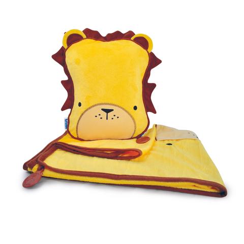 Лев TRUNKI Дорожный набор Подушка с пледом