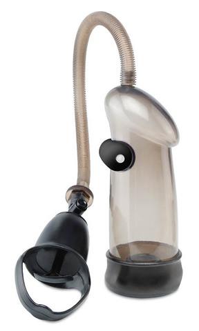 Мужская вакуумная помпа для члена Sure-Grip с вибрацией (6,1 х 18,5 см)