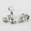77506 Бусина - рондель Сваровски Crystal (цвет - античное серебро) 6х3 мм ()