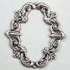 Винтажный декоративный элемент - рамка 40x36 мм (оксид серебра)