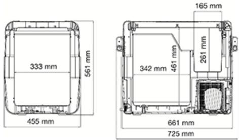 Компрессорный автохолодильник Dometic Waeco CoolFreeze CFX-65 (60л)