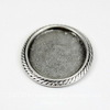 "Сеттинг - основа ""Плетенка"" для камеи или кабошона 18х13 мм (оксид серебра) ()"