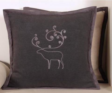 Наволочка декоративная 42х42 Luxberry Deer серая