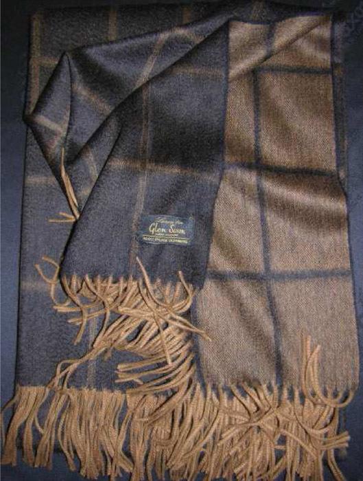 Элитный плед кашемировый Garda Black от Glen Saxon