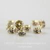 77504 Бусина - рондель Сваровски Crystal (цвет - золото) 4х2 мм