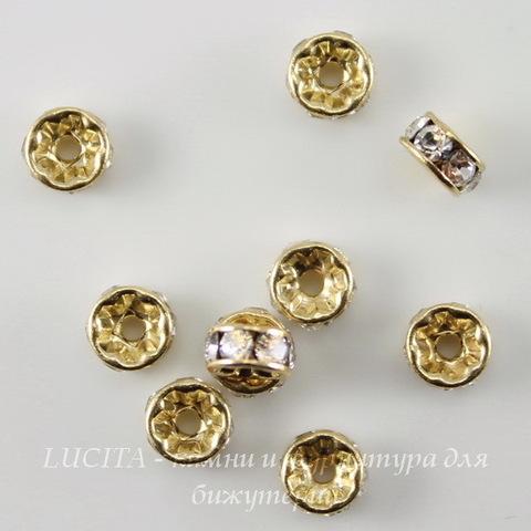 77504 Бусина - рондель Сваровски Crystal (цвет - золото) 4х2 мм ()