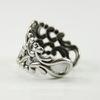 Винтажная основа для кольца с узором на площадке (оксид серебра) ()