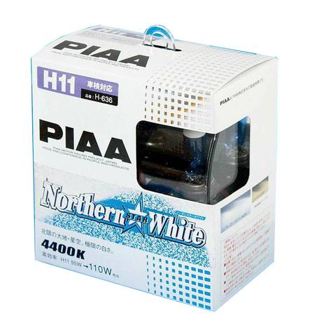 Галогенные лампы PIAA H11 Northern Star White (4400K) H-636