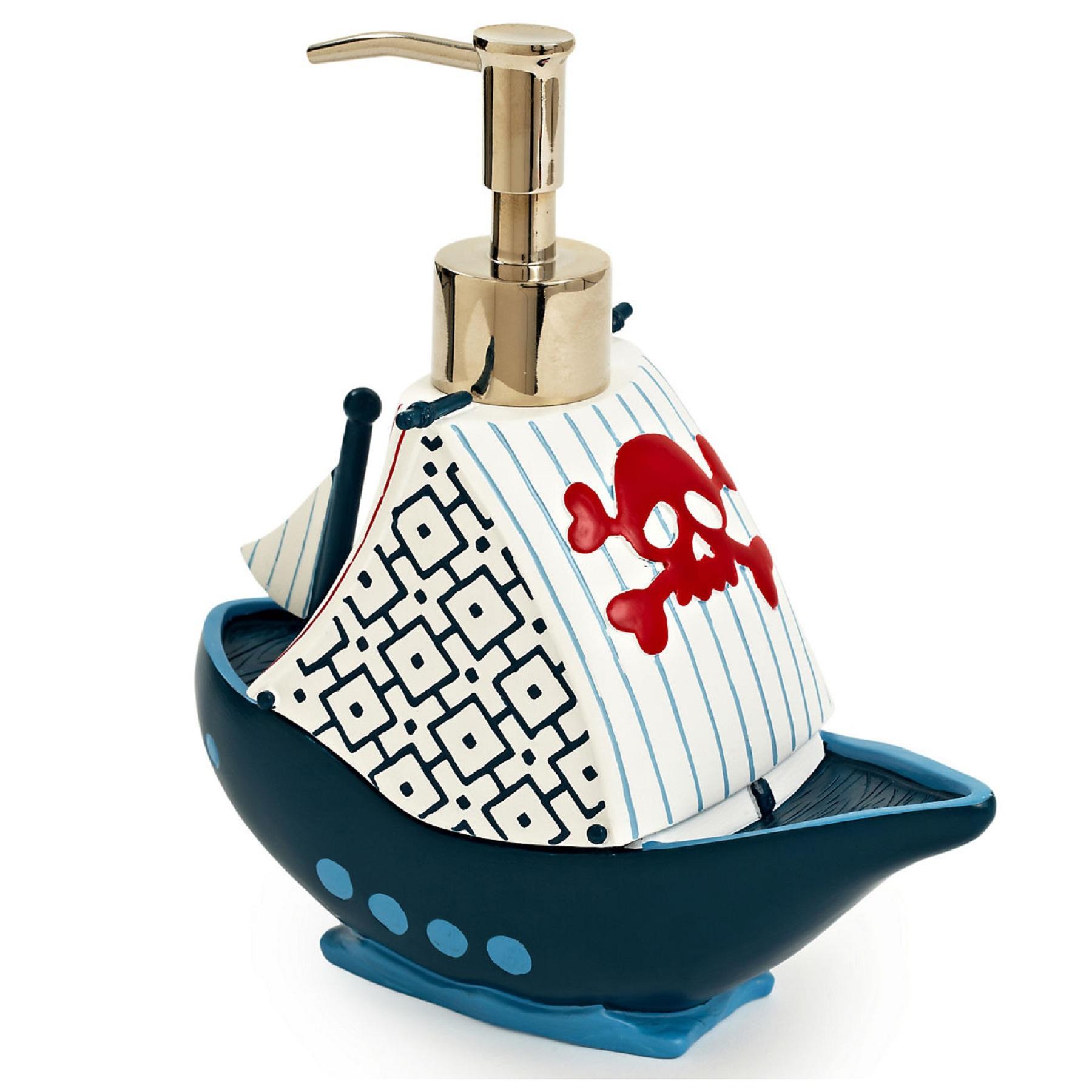 Для ванной Дозатор для жидкого мыла детский Pirates от Kassatex dozator-dlya-zhidkogo-myla-pirates-ot-kassatex-ssha-kitay.jpg