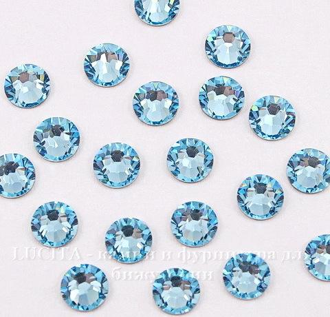 2058 Стразы Сваровски холодной фиксации Aquamarine ss 20 (4,6-4,8 мм), 10 штук ()