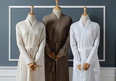 Элитный халат вафельный Long Island коричневый от Casual Avenue