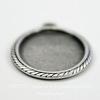 """Сеттинг - основа - подвеска """"Плетенка"""" для камеи или кабошона 18х13 мм (оксид серебра) ()"""