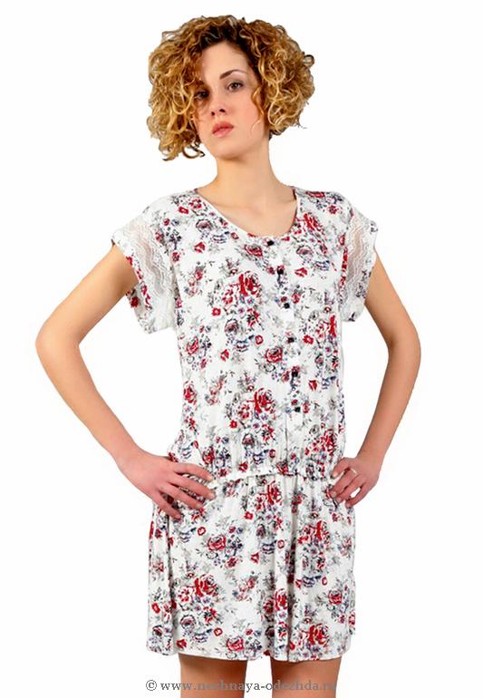 Женская домашняя сорочка Tata (Домашние платья и ночные сорочки)