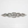 Винтажный декоративный элемент - филигрань 57х16 мм (оксид серебра) ()