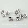 77504 Бусина - рондель Сваровски Crystal (цвет - античное серебро) 4х2 мм ()