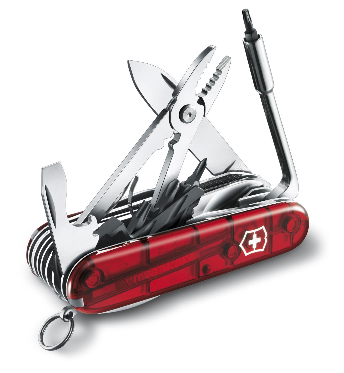 Швейцарский нож Victorinox CyberTool, 91 мм, 41 функ, красный полупрозрачный  (1.7775.T)