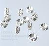 77506 Бусина - рондель Сваровски Crystal (цвет - серебро) 6х3 мм ()
