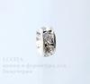 77506 Бусина - рондель Сваровски Crystal (цвет - серебро) 6х3 мм