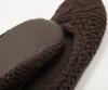 Домашние тапочки-балетки Casual Avenue Bradford коричневые