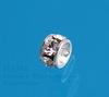 77503 Бусина - рондель Сваровски Crystal (цвет - серебро) 3х2 мм ()
