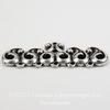 Винтажный декоративный элемент - коннектор (1-5) 37х15 мм (оксид серебра) ()