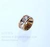 77506 Бусина - рондель Сваровски Crystal (цвет - античное золото) 6х3 мм ()