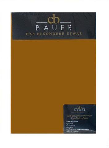 Простыня прямая 240x260 Curt Bauer Mako Brokat Satin золотая тень