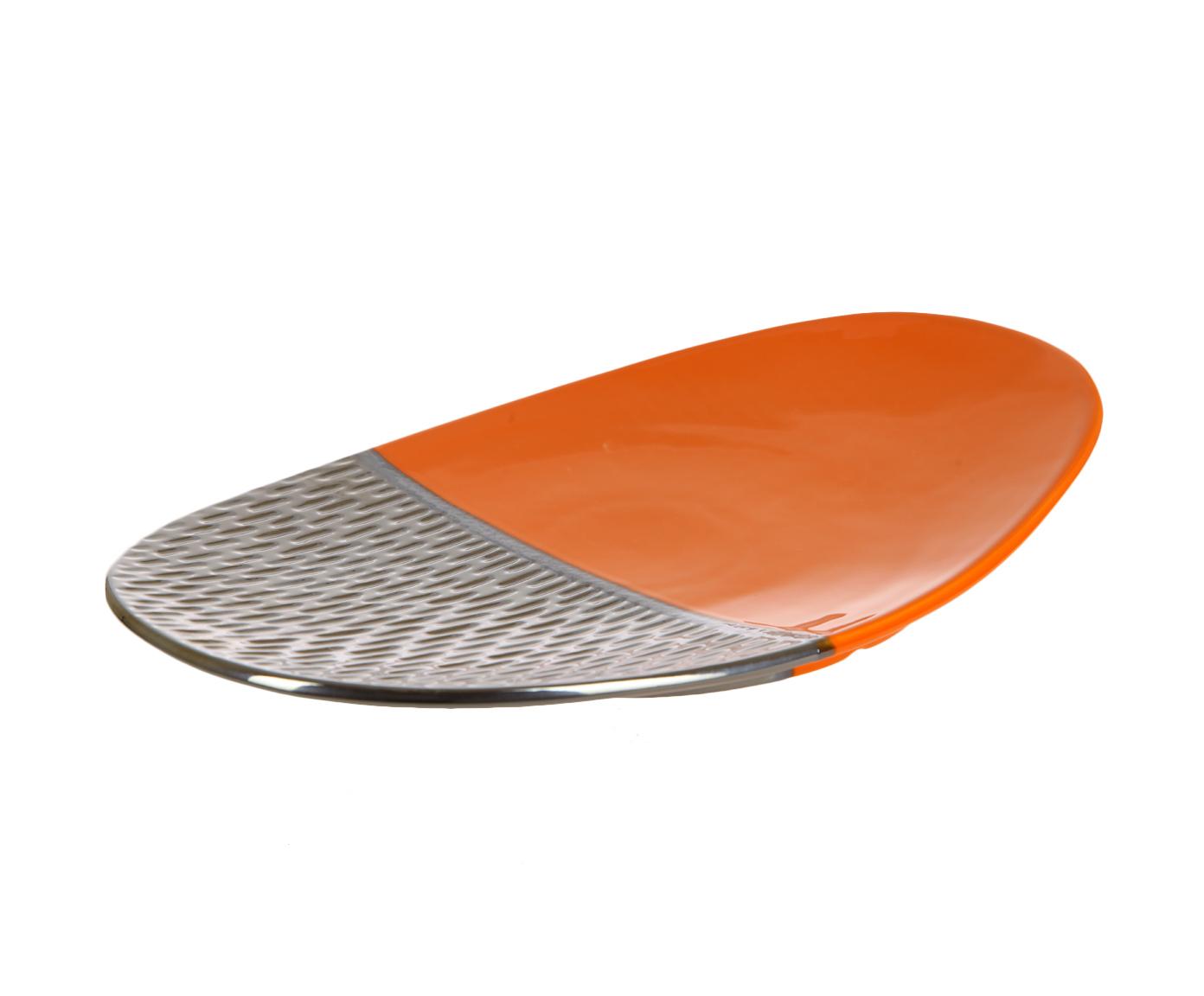 Блюда и тарелки Блюдо декоративное Copperfield оранжевое от Sporvil predmet-dekora-tsentr-copperfield-serebro-s-oranzhevym-ot-sporvil-portugaliya.jpg