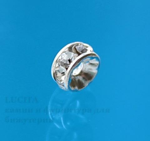 77504 Бусина - рондель Сваровски Crystal (цвет - серебро) 4х2 мм ()
