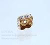77608 Бусина - рондель Сваровски Crystal (цвет - античное золото) 8х3 мм ()