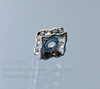 77604 Бусина - рондель Сваровски Crystal (цвет - серебро) 5х2 мм ()