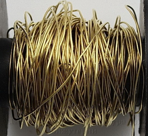 Винтажная проволока латунная 0,8 мм (цвет - латунь), 50 см ()