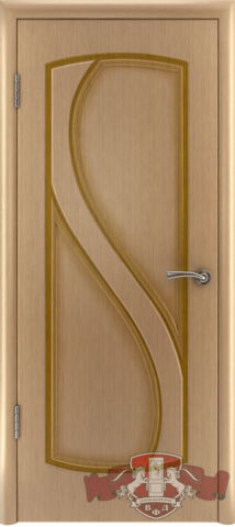Дверь Владимирская фабрика дверей Грация 10ДГ1, цвет светлый дуб, глухая